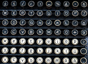 Typewriter Keys Posters - Typewriter Keyboard Poster by Hakon Soreide