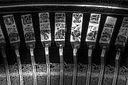 Retro Antique Art - Typewriter Keys by Tom Mc Nemar