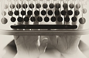 Typewriter Photos - Typewriter Vintage Background by Gualtiero Boffi
