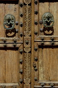 Tarifa Posters - Typical Andalusian style wooden studded door Poster by Sami Sarkis