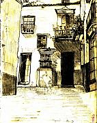 Typical Malaga Print by Linda Hubbard Red Cap Art