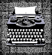 Typewriter Digital Art - Typography by Laura Brightwood