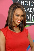 Ucla Framed Prints - Tyra Banks At Arrivals For Nickelodeons Framed Print by Everett
