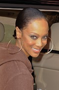 Celebrity Candids - Monday Framed Prints - Tyra Banks, Leaves The Wendy Williams Framed Print by Everett