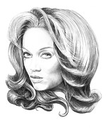 Famous People Drawings - Tyra Banks by Murphy Elliott