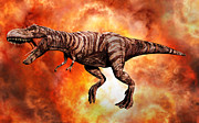 Talon Digital Art Posters - Tyrannosaurus Rex, The King Of Killer Poster by Mark Stevenson