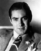 Lapel Framed Prints - Tyrone Power, 20th Century-fox Framed Print by Everett