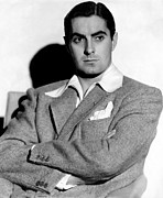 Colbw Prints - Tyrone Power In The 1940s Print by Everett