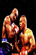 Boxing  Framed Prints - Tyson vs. Holyfield Framed Print by Dax Ian