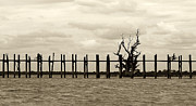 Teak Prints - U Bein Bridge Print by RicardMN Photography