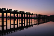 Myanmar Prints - U-beins Bridge Print by Huang Xin