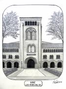 University Campus Buildings Drawings Drawings - U S C by Frederic Kohli