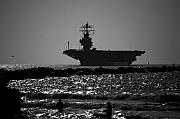 Carrier Framed Prints - U S S Harry S Truman CVN75 Framed Print by Wayne Higgs
