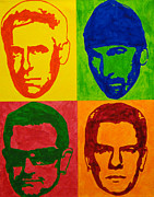 Band Painting Originals - U2 by Doran Connell