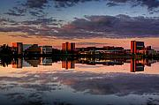 North Originals - UB Campus Across The Pond by Don Nieman