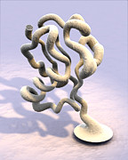 Molecule Art - Ubiquitin Molecule by Phantatomix