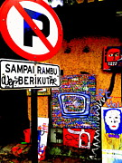 Ubud Art Street  Print by Funkpix Photo Hunter