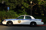 College Campus Art - UC Berkeley Campus Police Car  . 7D10178 by Wingsdomain Art and Photography