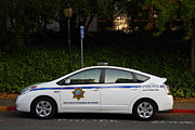 Ucb Prints - UC Berkeley Campus Police Car  . 7D10181 Print by Wingsdomain Art and Photography