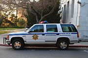 Ucb Prints - UC Berkeley Campus Police SUV  . 7D10182 Print by Wingsdomain Art and Photography