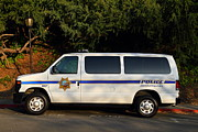 Police Van Framed Prints - UC Berkeley Campus Police Van  . 7D10180 Framed Print by Wingsdomain Art and Photography