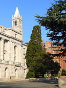 University Of California At Berkeley Metal Prints - UC Berkeley . Sather Tower Campanile . Wheeler Hall . South Hall Built 1873 . 7D10040 Metal Print by Wingsdomain Art and Photography