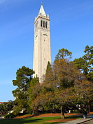 Schools Metal Prints - UC Berkeley . Sather Tower . The Campanile . Clock Tower . 7D10097 Metal Print by Wingsdomain Art and Photography