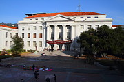 College Campuses Framed Prints - UC Berkeley . Sproul Hall . Sproul Plaza . Occupy UC Berkeley . 7D10004 Framed Print by Wingsdomain Art and Photography