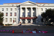 College Campuses Framed Prints - UC Berkeley . Sproul Hall . Sproul Plaza . Occupy UC Berkeley . 7D10017 Framed Print by Wingsdomain Art and Photography