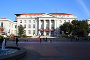 College Campuses Framed Prints - UC Berkeley . Sproul Hall . Sproul Plaza . Occupy UC Berkeley . 7D9994 Framed Print by Wingsdomain Art and Photography
