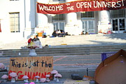 Cal Bear Metal Prints - UC Berkeley . Sproul Hall . Sproul Plaza . Occupy UC Berkeley . The Is Just The Beginning . 7D10018 Metal Print by Wingsdomain Art and Photography