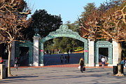 College Campuses Framed Prints - UC Berkeley . Sproul Plaza . Sather Gate . 7D10020 Framed Print by Wingsdomain Art and Photography