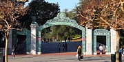 Schools Framed Prints - UC Berkeley . Sproul Plaza . Sather Gate . Wide Size . 7D10020 Framed Print by Wingsdomain Art and Photography
