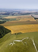 Luminescence Framed Prints - Uffington White Horse, Oxfordshire, Uk Framed Print by David Parker