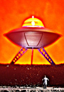 Flying Saucer Posters - Ufo Poster by L S Keely