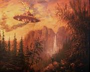 Alien Painting Originals - UFO Sighting by Tom Shropshire