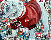 Georgia Bulldog Prints - Ugga Print by Michael Lee