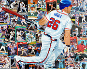 Home Run Paintings - Uggla by Michael Lee
