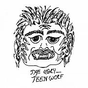 Teeth Drawings - Ugly Teen Wolf by Karl Addison