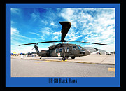 Fighters Posters - UH-60 Black Hawk Poster by Greg Fortier