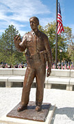 Police Sculptures - UHP Trooper Bronze Memorial Statue by Lena Toritch
