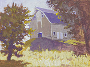 Robert Bissett Prints - UI Barn Print by Robert Bissett