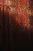 Uk, England, Oxford, Light On Red Fabric Print by Westend61