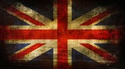 British Digital Art Prints - UK Flag Print by Brett Pfister