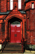 Red Doors Photos - Ukrainian Catholic Church by Karol  Livote