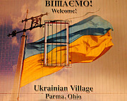 Flag Pole Posters - Ukrainian Village Ohio Poster by Robert Harmon