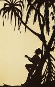 Silhouette Painting Posters - Ukulele Graphic Poster by Hawaiian Legacy Archive - Printscapes
