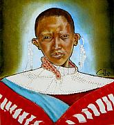 Maasai Painting Originals - Ull Lukt Nanu by G Cuffia