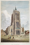 19th Century Architecture Prints - ULM CATHEDRAL, 19th C Print by Granger