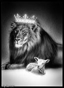 Lion Lamb Posters - Ultimate Inspiration-Gods Plan of Love Poster by Ronald Barba